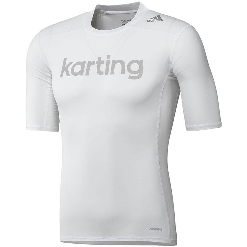 ADIDAS TECHFIT KARTING UNDERWEAR TEE WHITE